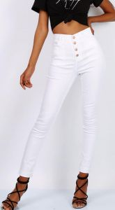Jeansy Buttons White